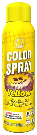 Yellow Food Color Chocolate Spray