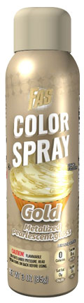 Gold Food Color Metalized Spray